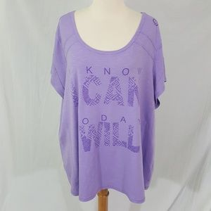 Active Zone I know I can Today I will 3X T-Shirt